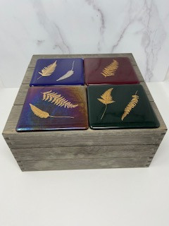 Leaf Decal Coasters