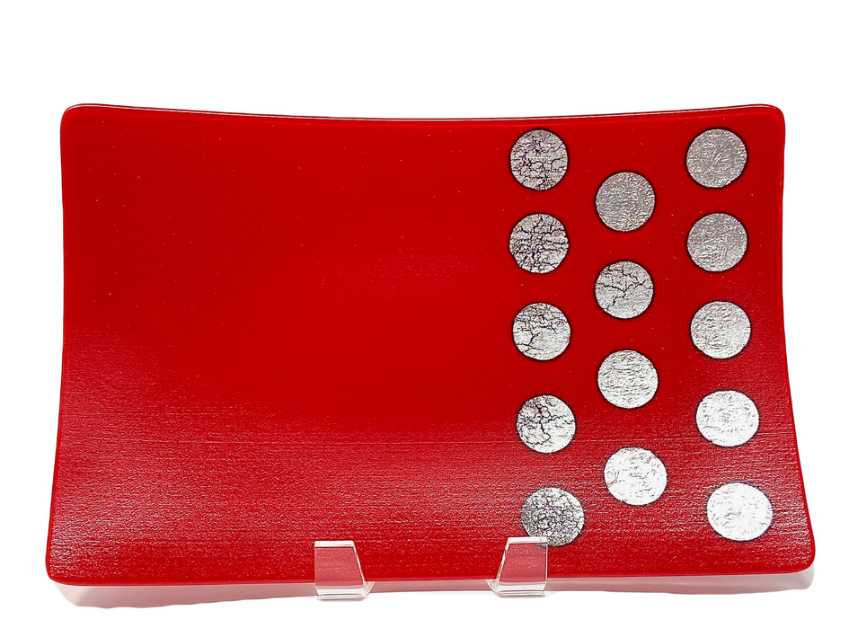 Celebration in Red Platter