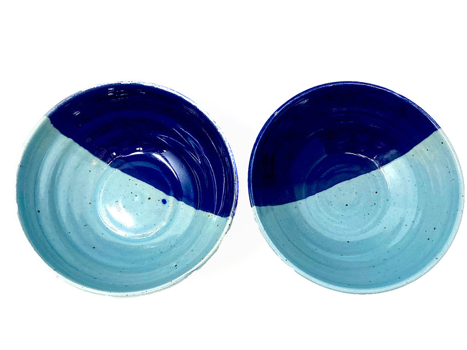 Contrasting Blues $35 each (Plate on Left SOLD!)