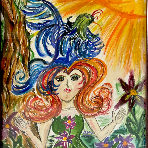 Nature Woman with Partridge $175