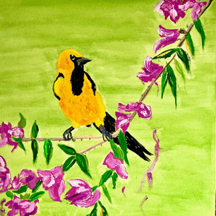 Goldfinch on Branch $175