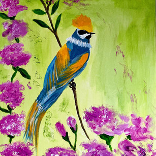 The Crowned Bluebird $225