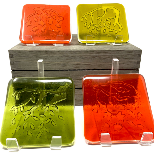 Swaying Branch Glass Coasters