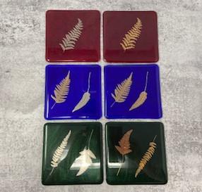 Leaf Decal Coasters