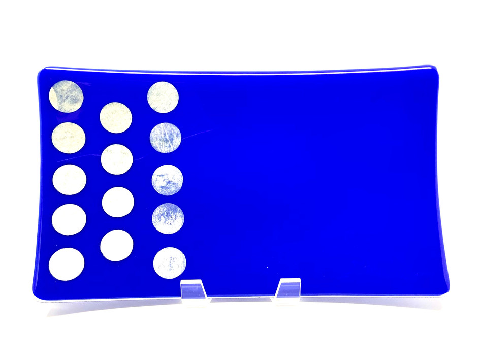 Celebration in Blue Platter