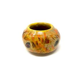 Small Golden Leaf Vase