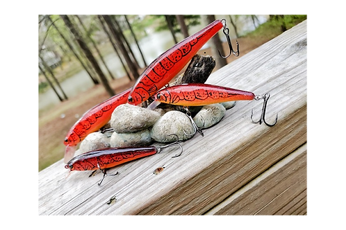 Demon Crawfish Color Pointer Style Jerkbaits - Choose your size SOLD INDIVIDUALL