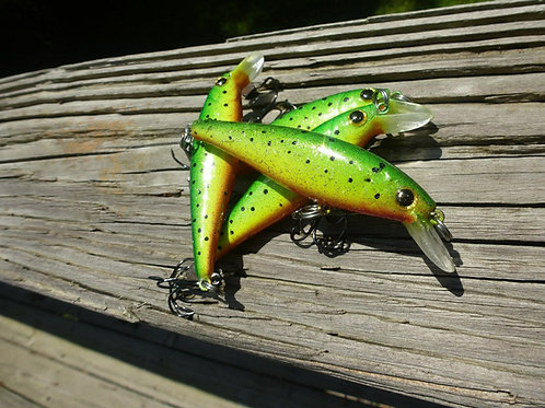 Luckycraft Pointer Style Jerkbait - Hot Green Goby - SOLD INDIVIDUALLY