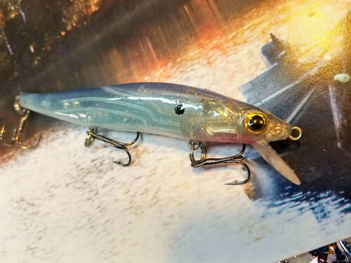 Megabass Style Jerkbaits - See Thru Blue with Gold Tip
