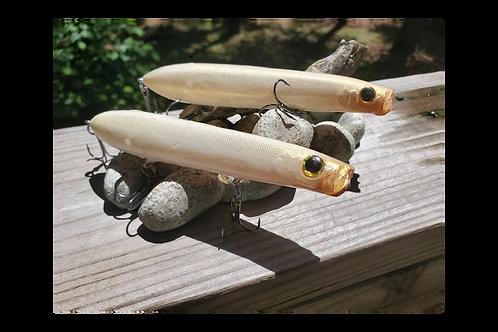 Evergreen Blow Style Topwater Bait - Pair of Bone
