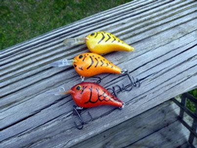 Rapala Style DT Crankbait - 3 PACK-Demon Craw, Mellow Yellow & Sunkist Orange