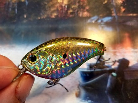 Holographic Gold Luckycraft Style Squarebill Crankbaits