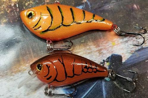 Pair of Crankbaits - Orange Lipless and Autumn Rust Squarebill