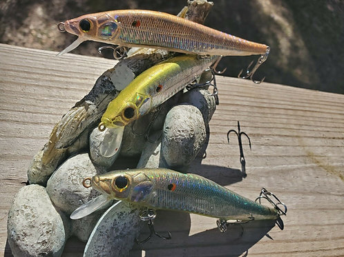 Megabass Style Jerkbaits - 3 Pack SPECIAL -Wintercraw, Candy Lime, Natural Shad