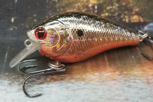 Holographic Silver with Orange Luckycraft Style Squarebill Crankbait