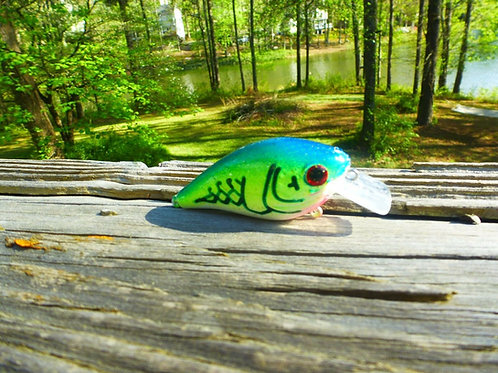 Luckycraft Style Squarebill Crankbait - Blue-Green Crawfish