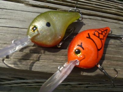 Rapala Style DT Crankbait - 2 Pack Special includes Demon Craw and Golden Shad