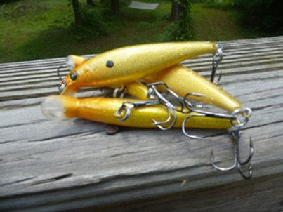 Golden Shiner Pointer Style Jerkbait - sold each