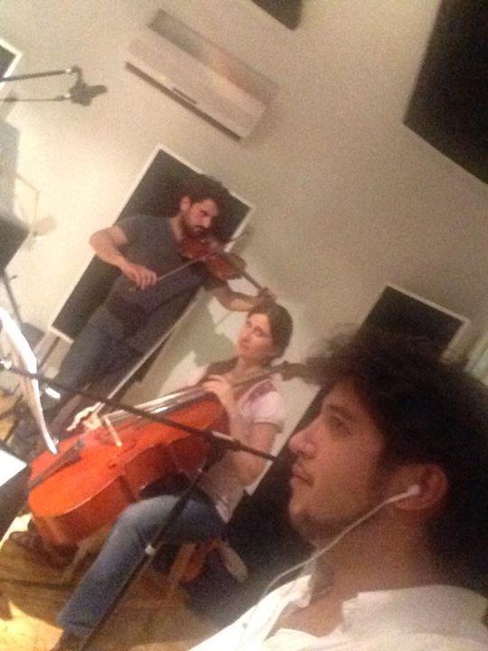 Grabando el primer CD de Caburé Tango Típica...