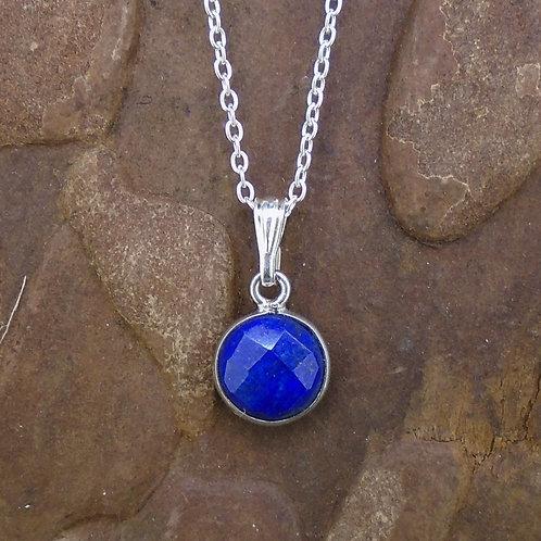 Delicate Lapis Lazuli Sterling Silver Pendant