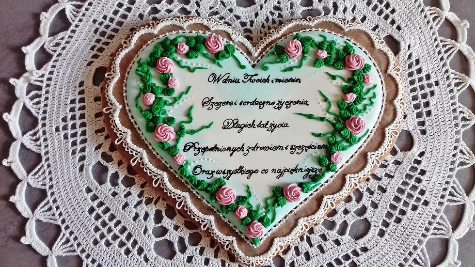 Serce wianek z kwiatów