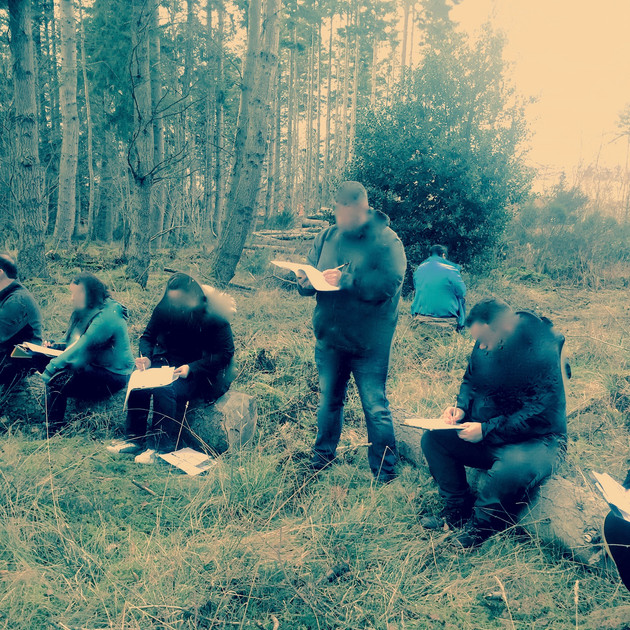 Participant's listening and writing bird song
