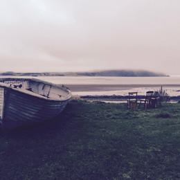 Boat in final setting