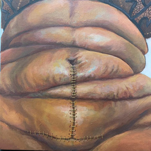 """Rebirth: pose II"" Tummy study"