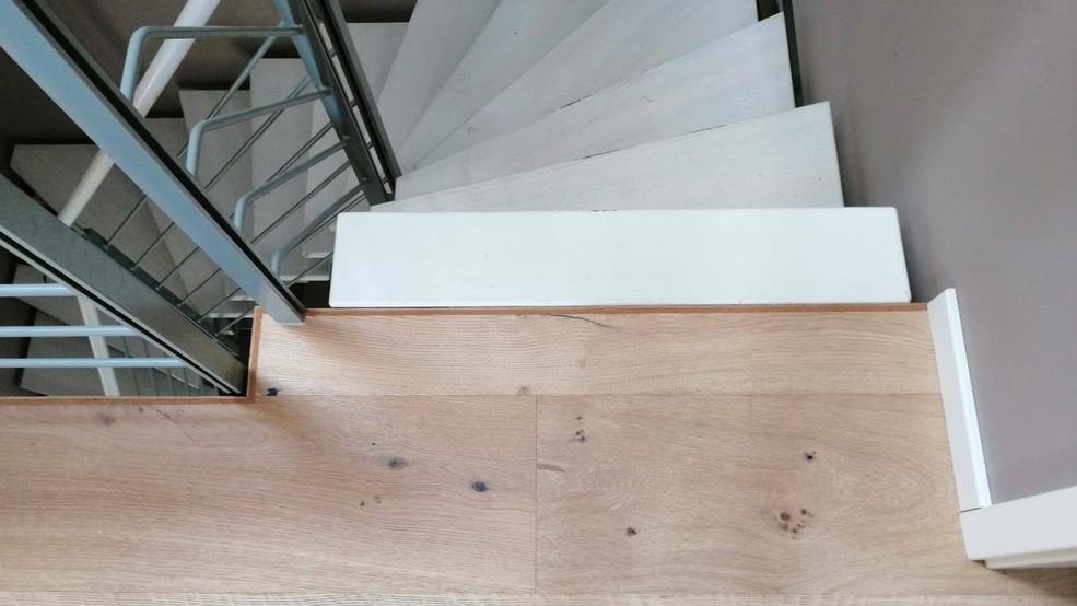 Treppenauge,Anschnitt und Verblendung