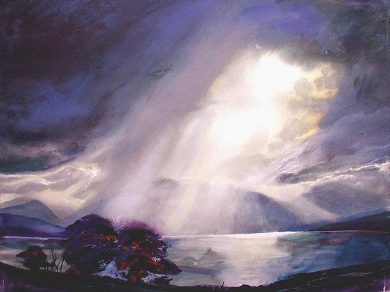 Sunburst at Onich, Loch Linnhe