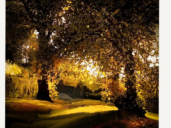 Autumn Lime Trees, Alnwick, Northumberland