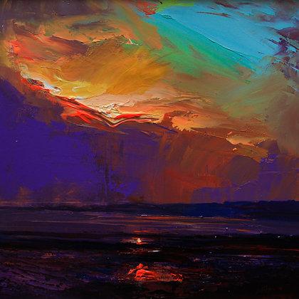 Sunset Alnmouth Beach Northumberland