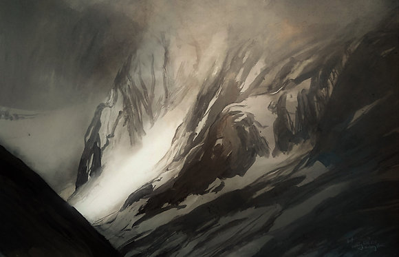 Ben Nevis North Face drawing 2