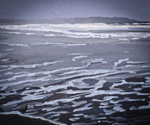 Cold North Sea Foxton Beach Northumberland