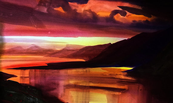 Sunset towards Mull