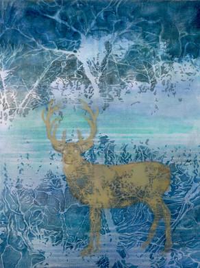 Deer in the Blue