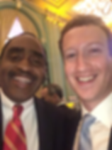 Emmett Carson and Mark Zuckerberg