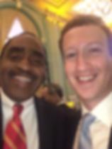 Emmett Carson and Mark Zuckerberg