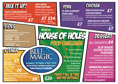 BluMagic Street Food Menu