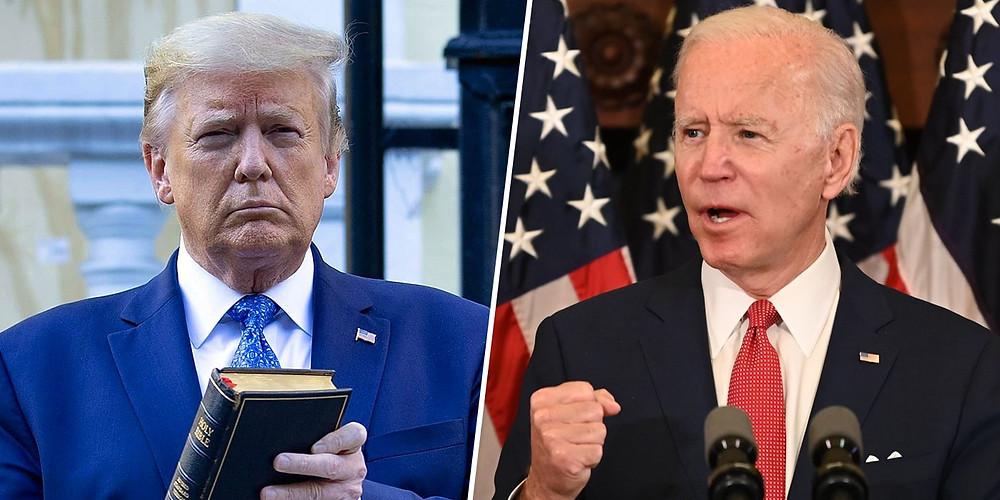 Donald Trump and Joe Biden US elections
