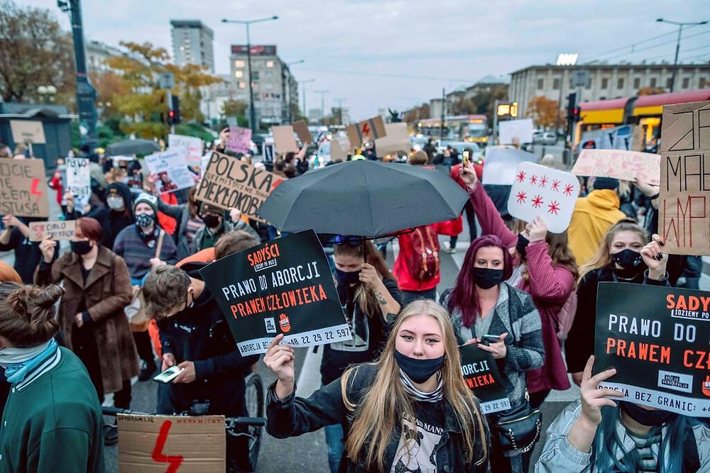Poland protests, Warsaw protests, Women's Strike, Strajk Kobiet