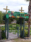 garden entrance at redeemer lutheran church in sanford