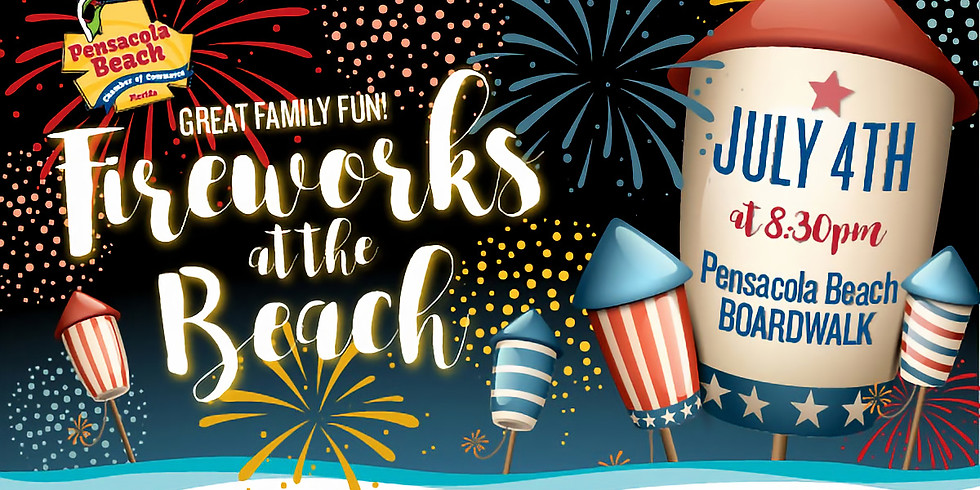 """4th of July """"Fireworks On The Beach"""""""