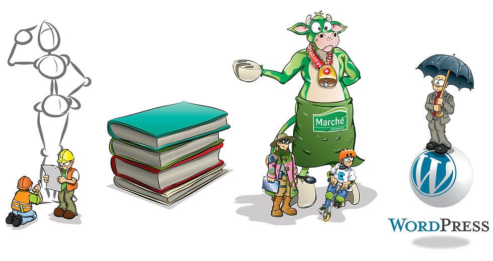 cartoons, humour, books, Sergio J Lievano