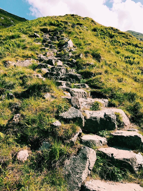 Trail to hike Stob Dohr, Scottish Highlands