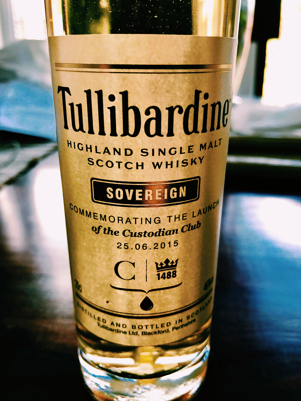 Tullibardine single malt scotch