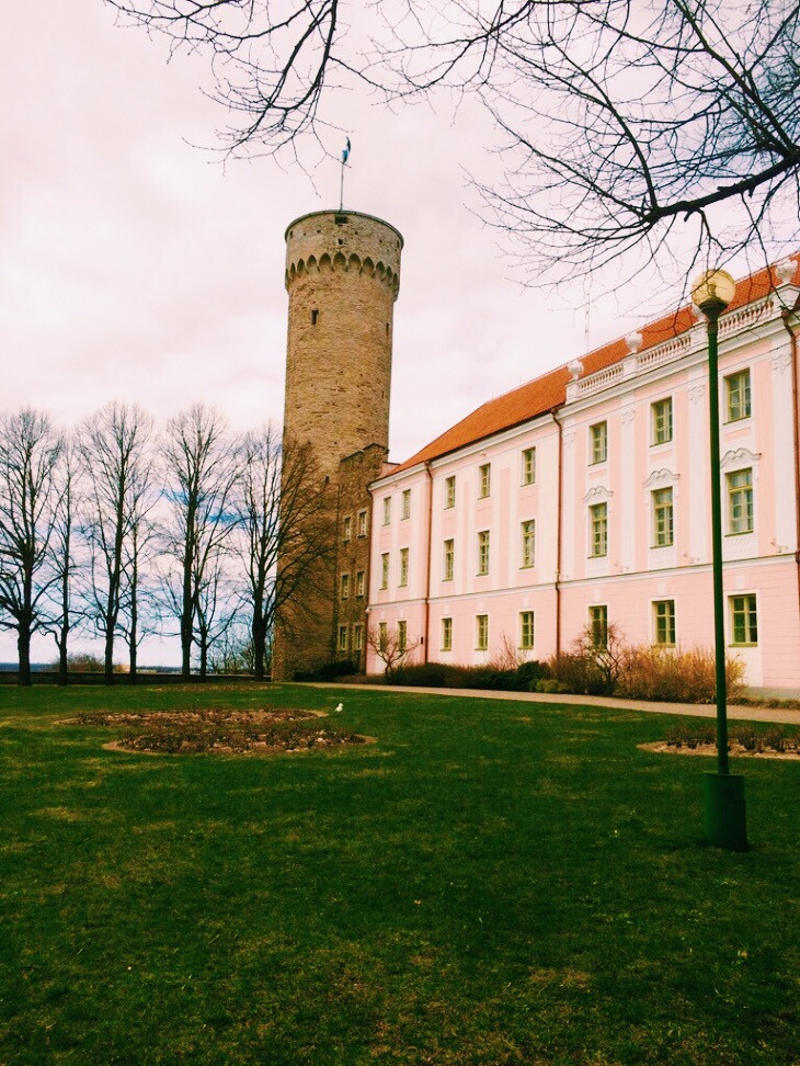 Pikk Hermann (Tall Hermann Tower) at Toompea Castle, Tallinn, Estonia