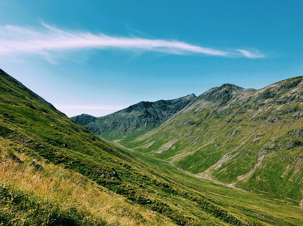 View of Glencoe Peaks, Scottish Highlands