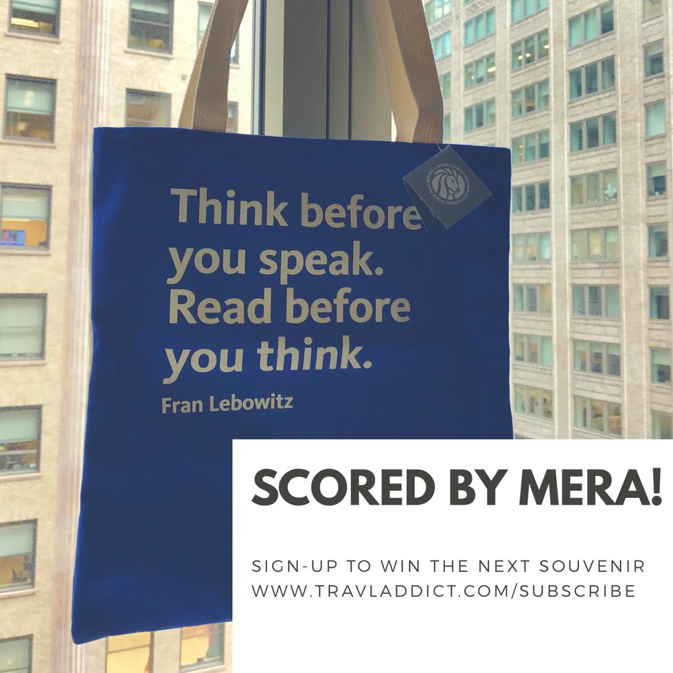 #ScoreMySouvenir! NYC Public Library Tote Bag