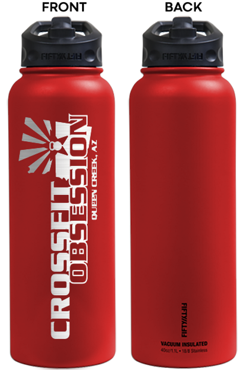 40 oz Crossfit Obsession Logo 50/50 Bottle (14 Colors)